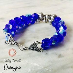 Jewelry - SOLD! Czech Glass & Bali Silver Bracelet